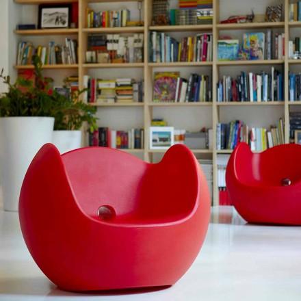 Houpací křeslo pro zahradní / designový interiér Slide Blos, vyrobené v Itálii