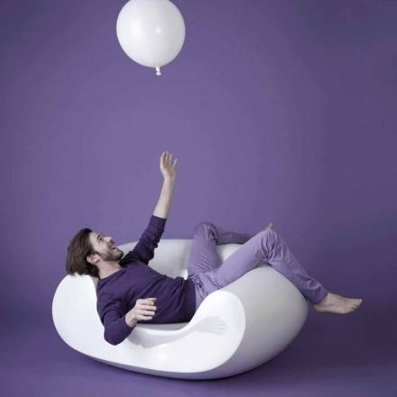 Moderní barevné zahradní křeslo Slide Chubby, vyrobené v Itálii