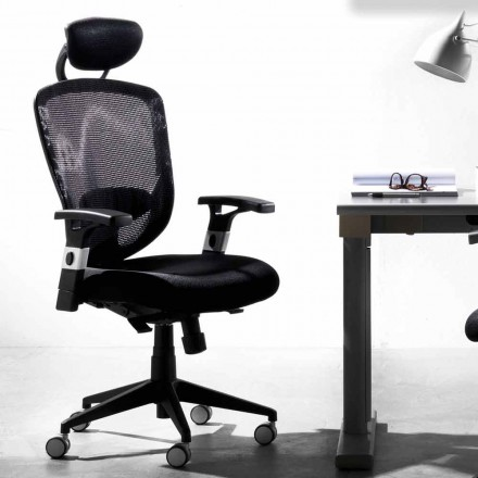 Směrová a operační rotační moderní černá židle - Simona
