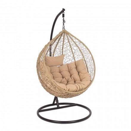 Luxusní designové ocelové zavěšené zahradní křeslo pro venkovní použití