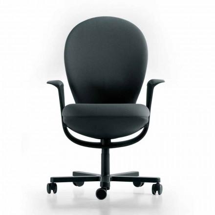 Výkonná kancelářská židle Design Bea, šedý sedák Luxy