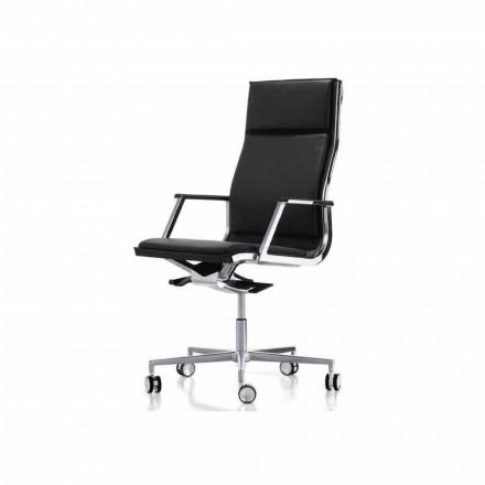 Ergonomická kancelářská židle design se zbraněmi Nulite Luxy
