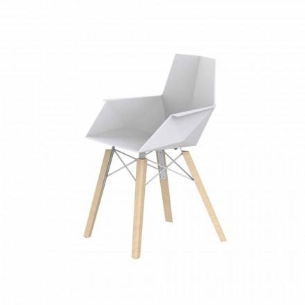 Designové křeslo do obývacího pokoje z polypropylenu a dřeva - dřevo Faz od společnosti Vondom