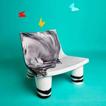 Ložní židle černé a bílé Slide Low Lita výročí z Itálie