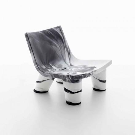 Bílá a černá outdoorová židle Slide Low Lita Anniversary