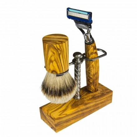Držák žiletky a štětec na holení, vyrobený v Itálii Řemeslný výrobek - Diplo