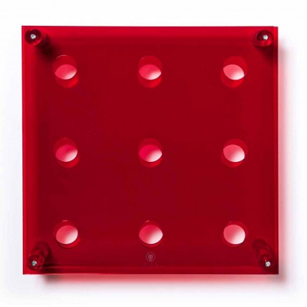 Láhev Wall Amin Big L45xH45xP13,6cm transparentní červená
