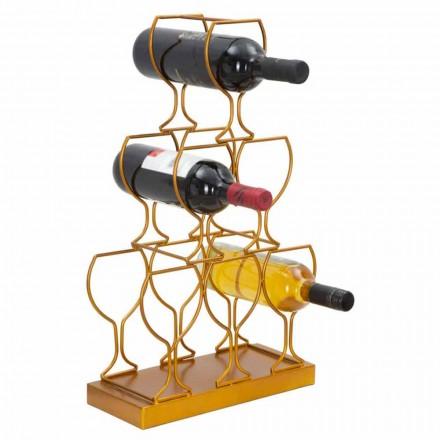 Podlahový nebo stolní stojan na 6 lahví, moderní design - Brody