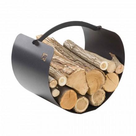 Ocelový držák polen s vysoce kvalitní rukojetí Vyrobeno v Itálii - Espero