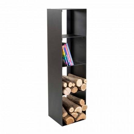 Černá moderní krytina na dřevo s policemi vyrobenými v Itálii - Cauro1