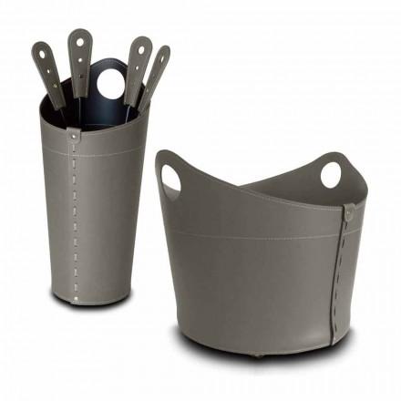 Držák palivového dřeva, držák železa a žehličky pro kůže Nicad vyrobené v Itálii