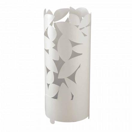 Designový deštníkový stojan s železnými listy siluety vyrobené v Itálii - Piumotto