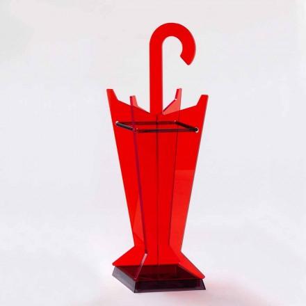 Moderní designový deštník stojan v barevném metakrylátu Vyrobeno v Itálii - tatínek