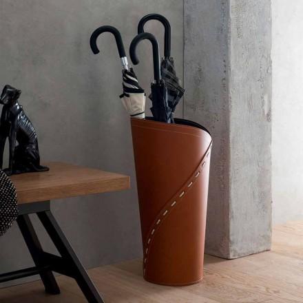 Moderní deštníkový stojan v regenerované kůže Katrina vyrobený v Itálii