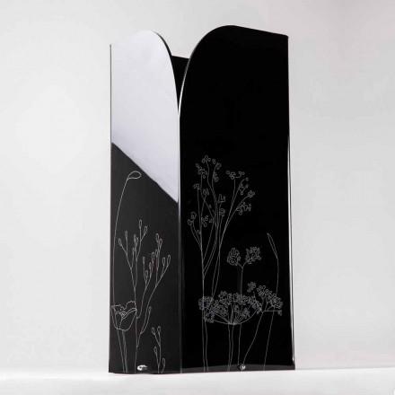 Moderní deštníkový stojan v černém nebo průhledném plexiskle s gravírováním - Florinto