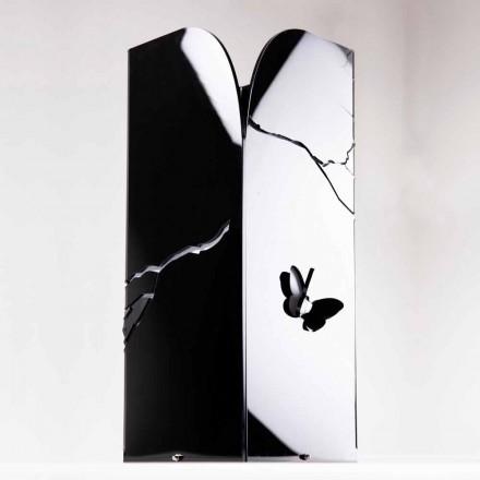 Černý deštník z plexiskla s 3D rytinami a dekoracemi, moderní design - Farfo
