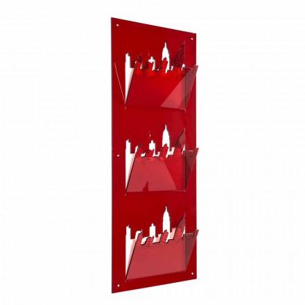 Nástěnný stojan na časopis s třemi přihrádkami z plexiskla v Itálii - Filarino