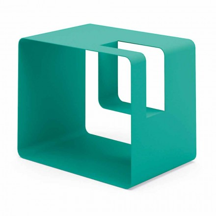 Stojan na časopisy v moderním designu v barevném kovu 7 povrchových úprav - Imane