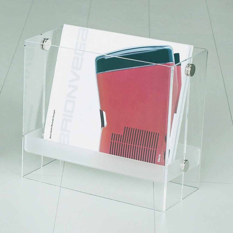 Časopis moderního designu v jasné methakrylátového Tanko