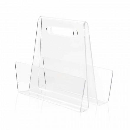 Moderní transparentní plexisklová časopisová stojan vyrobený v Itálii - Immoral