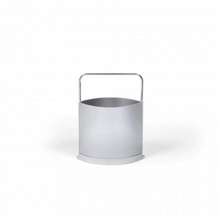 Časopis rack moderní polypropylen v šedé a opálového Gino