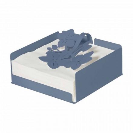 Moderní držák na květinové ubrousky v drahém železa vyrobený v Itálii - Marken