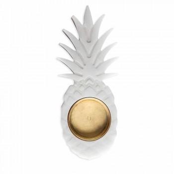 Ananasový popelník z bílého mramoru Carrara Vyrobeno v Itálii - Cenna