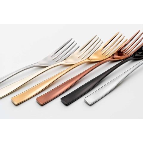 24dílný luxusní designový příbor z pískované nebo barevně leštěné oceli - plachý