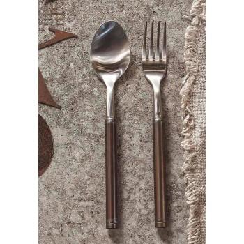 24dílný saténový ocelový příbor italského řemeslného designu - Damerino