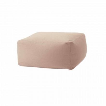 Měkký osmanský obdélníkový pouf pro vnitřní i venkovní použití v látce - Naemi