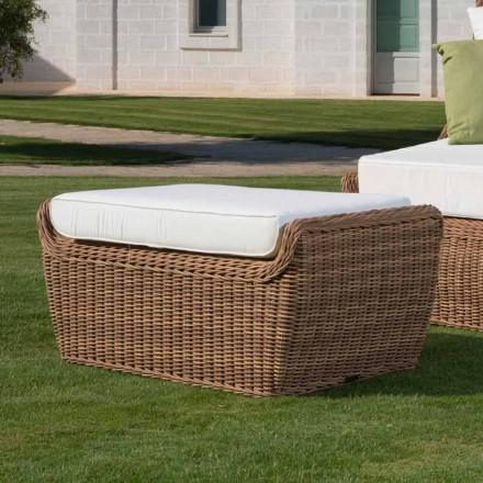 Venkovní lavice v luxusním tkaném syntetickém ratanu - Yves