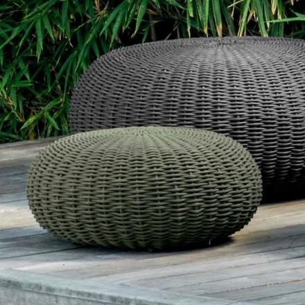 Malý pouf a kolo Jackie od Talenti s moderním designem pro zahradu