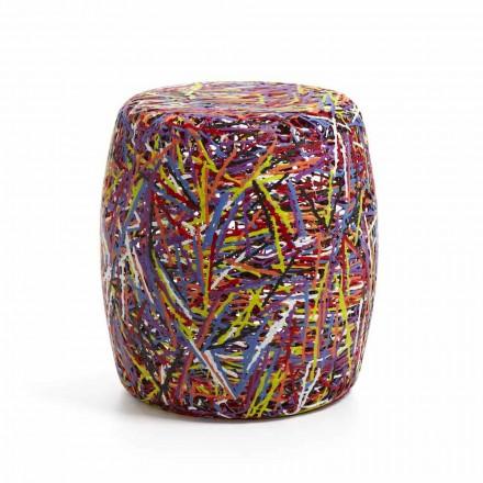 Pouf / stolice z plastu roztaveného vícebarevné nebo bílý Weky