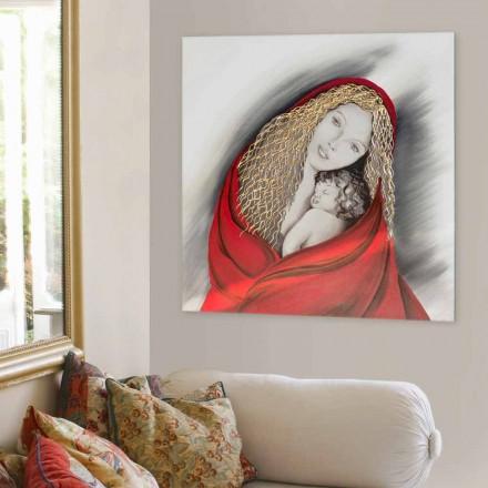 Ručně vyráběný moderní designový obrázek Madonna