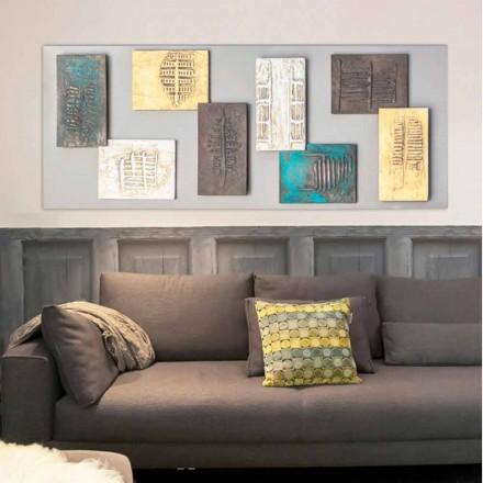 Moderní malba s holubí šedým plátnem a osmi prvky Andrewem