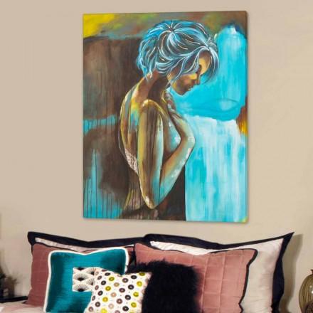 Ručně malovaná moderní ženská kostra s detaily Sweet resin