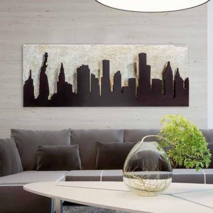 Moderní malba na plátně s vyraženým kávovarem Manhattan Donald