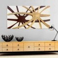Abstraktní moderní obdélníkový panel s čadankou perlou
