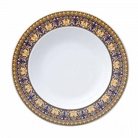 Rosenthal Versace Medusa modré desky moderní design spodní porcelán