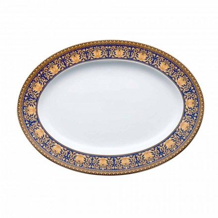 Rosenthal Versace Medusa Modrý ovál konstrukce porcelánové misky