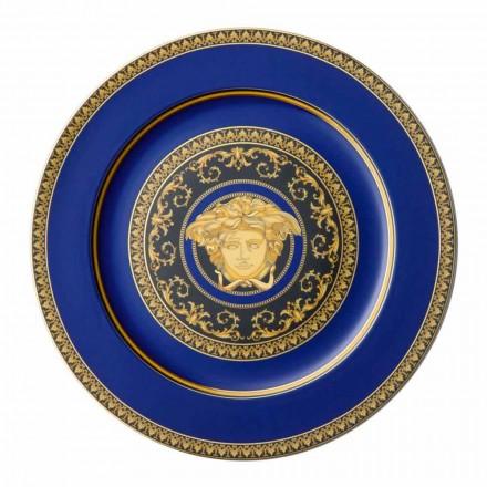Rosenthal Versace Medusa modré desky porcelán konstrukce zástupný
