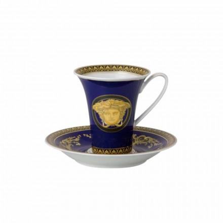 Rosenthal Versace Medusa Modrá Cup high porcelán Design Coffee
