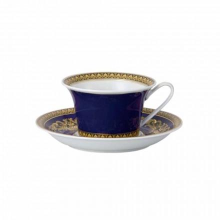 Rosenthal Versace Medusa Modrý Hrnek moderním designu porcelánu čaje