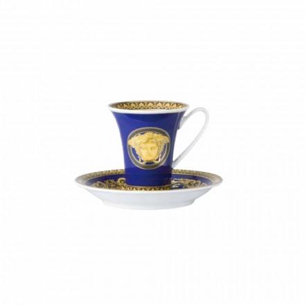 Rosenthal Versace Medusa Modrý šálek kávy designér porcelánu