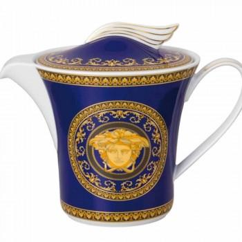 Rosenthal Versace Medusa modrá porcelán konvice s víkem pro 6pax