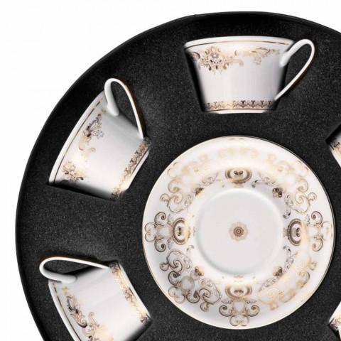 Rosenthal Versace Medusa Gala Poháry Porcelain Tea 6ks