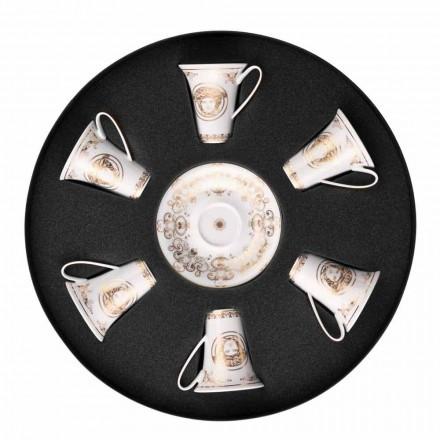 Rosenthal Versace Medusa Gala 6. září espresso šálky porcelánové figurky