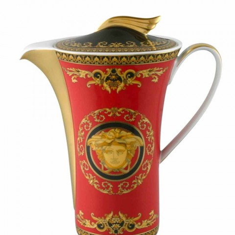 Rosenthal Versace Medusa Red kávu z porcelánu 6 osob