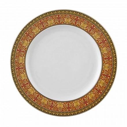 Rosenthal Versace Medusa Red Plate 22 cm porcelán