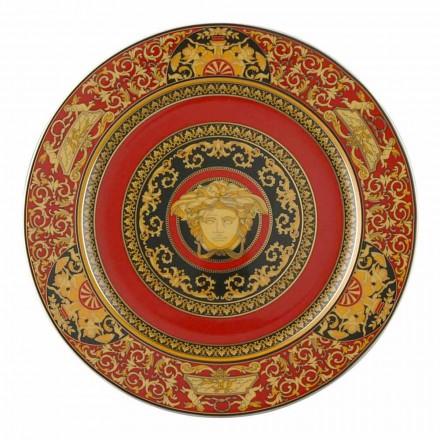 Rosenthal Versace Medusa Red Plate zástupný 30 cm porcelán